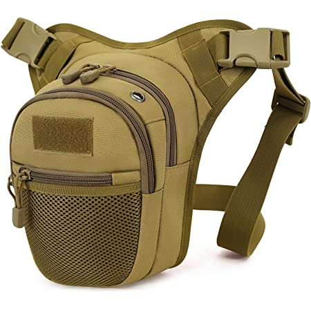 R/ésistance /à leau Type 1 Sacoche Militaire Sac Banane Tactique Militaire pour Sport Randonn/ée Camping Moto V/élo Trekking Marche Escalade Sacoche de Jambe