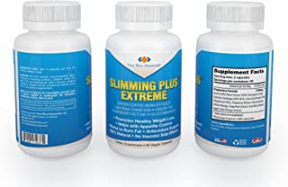 Slimming Plus Extreme! 100% All Natural Diet Weight Loss Fat Burning Pills (60 caps) Fat Burner Appetite Suppressant Top Weight Loss Product 2017! w/ Raspberry Ketone, Garcinia, Green Coffee Bean
