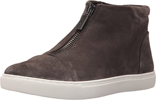 Kenneth Cole New York Wohommes Kayla High Top Front Zip paniers Suede Fashion, Asphault, 9 M US