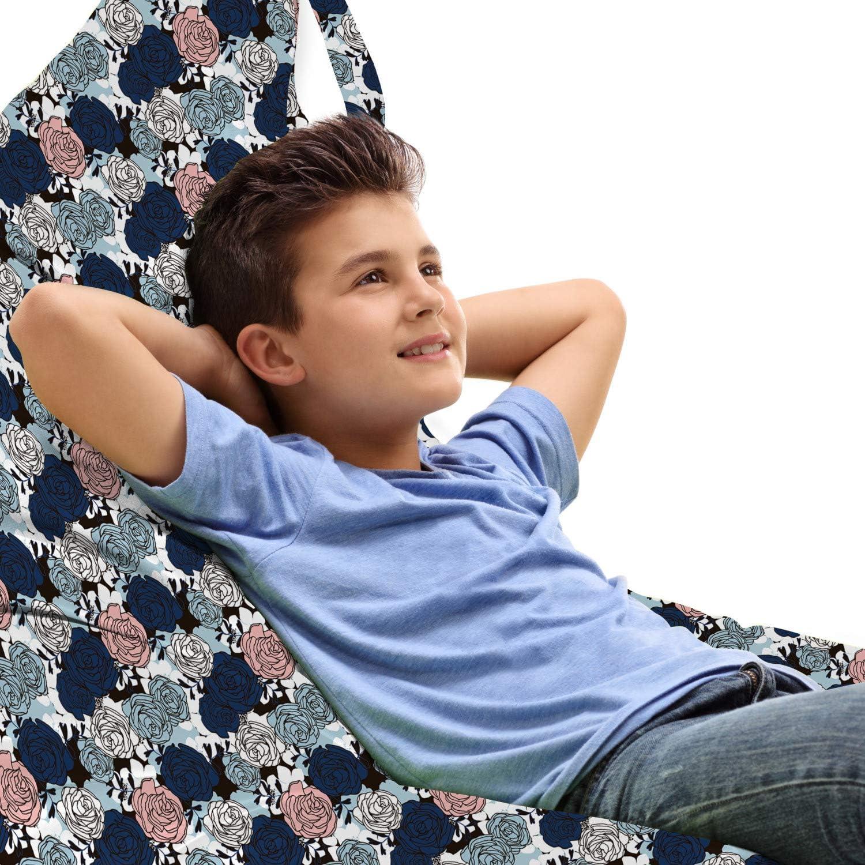 Manufacturer OFFicial shop Lunarable mart Floral Lounger Chair Bag Rose Rhythmic Tea Hybrid Flo