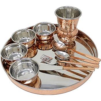 Vajilla Set de 4/cobre Servir cuencos para indio platos