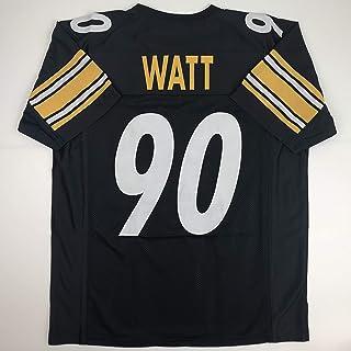 Unsigned TJ T.J. Watt Pittsburgh Black Custom Stitched Football Jersey Size Men's XL New No Brands/Logos
