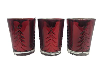 Bath & Body Works TIS THE SEASON White Barn Glass Scented Single Wick Candle 6 oz/170g - Pack of 3