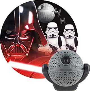 Projectables Star Wars LED Night Light Projector, Collector's Edition, Plug-in, Dusk-to-Dawn, Image of Darth Vader and Stormtroopers on Ceiling, Wall, or Floor, Ideal for Bedroom, Nursery, 43058