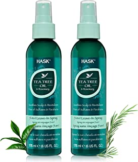 HASK Invigorating TEA TREE OIL 5-in-1 Leave In Conditioner Spray for all hair types, color safe, gluten free, sulfate free...