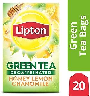 Lipton Green Tea, Decaffeinated Honey Lemon Chamomile, 20 ct (Pack of 6)