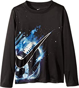 Cosmic Football Dri-FIT Long Sleeve Tee (Little Kids)