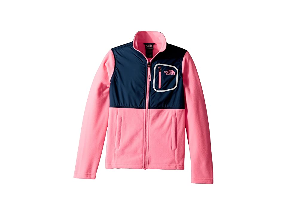 The North Face Kids Glacier Track Jacket (Little Kids/Big Kids) (Gem Pink/Blue Wing Teal) Girl