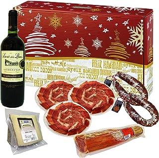 comprar comparacion Cesta de Navidad Productos Ibéricos. Jamón Ibérico, Queso Oveja, Lomo Ibérico, Chorizo y Vino. Lote Productos Ibéricos