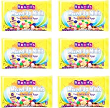 Brachs Mixed Up Minis Tiny Jelly Bird Eggs Easter Candy - Pack of 6 Bags - 7 oz Per Bag - 42 oz Total of Bulk Brachs Tiny Jelly Bird Eggs - 8 Different Flavors Classic and Speckled Brachs Jelly Beans