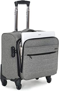 NOVEX Overnighter Polyester Small Laptop Trolley Luggage Bag (Grey)