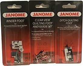 Janome Sewing Machine Foot Kit - Janome Quilting Accessory Bundle for Standard Top Load Horizontal Rotary Hook Machines