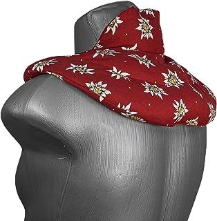 Coussin de nuque avec col montant - - Coussin aux noyaux de cerises - Coussin épaules et cou - Coussin chauffant, chaud ou...