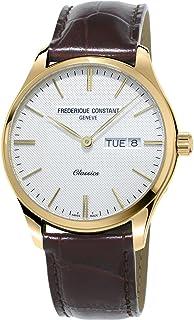 メンズ Frederique Constant クラシック クォーツ イエローゴールドメッキ 腕時計 FC-225ST5B5