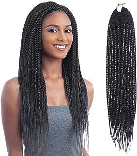 8Packs 20 Strands Senegalese Twist Crochet Hair 18 Inch Curly Braiding Hair Small Havana Mambo Twist Crochet Hair Extensions(#2)