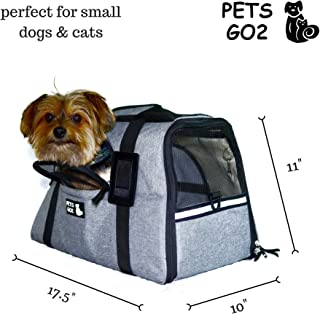 Pet Carrier for Small Dogs & Cats - Airline Approved Premium Soft Animal Carriers - Portable Soft-Sided Air Travel Bag with Two Mats - Best Tote for Small Dog and Cat - Fits Under Front Airplane Seat
