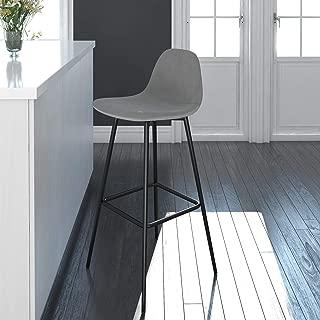 DHP Casi Upholstered Bar, Grey Velvet Counter Stool