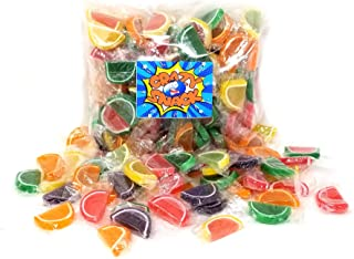 CrazyOutlet Pack - Jelly Candy Fruit Slices, Individually Wrapped, Assorted Flavors Bulk Candy, 2 Lbs