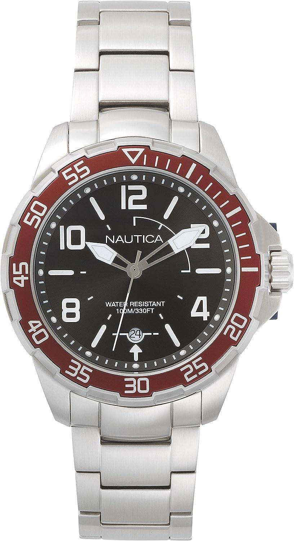 Nautica Reloj Analogico para Hombre de Cuarzo con Correa en Acero Inoxidable NAPPLH005