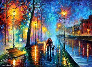 Canvas Wall Art Large Romantic Oil Painting On Canvas By Leonid Afremov Studio - Melody Of The Night