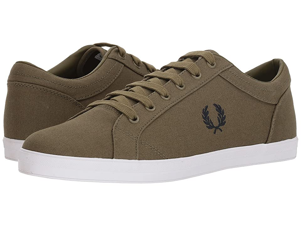 Fred Perry Baseline Canvas (British Olive/Charcoal) Men