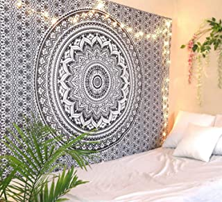 Jiya MURTI Arts Tapestry Mandala Tapestry Wall Hanging Bedsheet Cotton Bedsheet Wall Tapestry Bed Wall Hanging Tapestry (B...