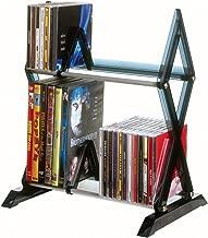 Atlantic Mitsu 2-Tier Media Rack - 130 CD or 90 DVD/BluRay/Games in a Space Saving, Customizable Clear Smoke Finish, PN64835193