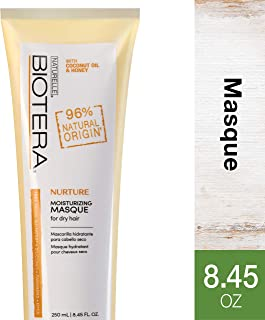 Biotera Natural Origin Nurture Moisturizing Masque, with Coconut Oil and Honey / Free from SLS/SLES Sulfates, Silicones, Parabens, Dyes and Gluten/Up to 97% Natural Original, 8.45-Ounce