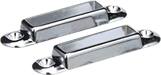 SEACHOICE 78011 Chrome-Plated Zinc Marine Cover Support Angled Bow Sockets, Set of 2
