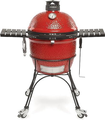 Kamado-Joe-KJ23RHC-Classic-II-Ceramic-Charcoal-Grill,-18-inch,-Blaze-Red