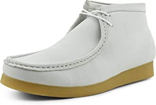 Jason2 - Men's High Top Casual Boots, Manmade Suede Wallabee Boots - Casual Boots, Lace Up, Crepe Rubber Sole - Mens Wallabee Boots