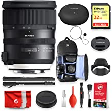 Tamron SP 24-70mm F/2.8 Di VC USD G2 for Canon with Tap-in Console + SanDisk Extreme 32GB Memory + Backpack Essentials Bundle (13pc)(Tamron 6 Year Limited USA Warranty)