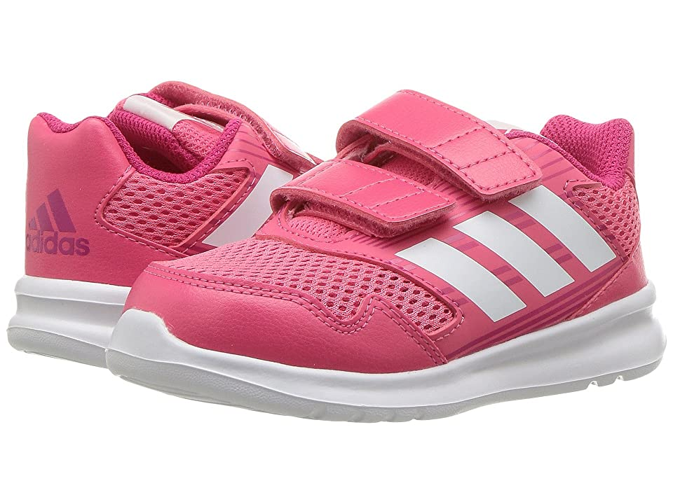 adidas Kids AltaRun (Toddler) (Pink/White/Vivid Berry) Girls Shoes