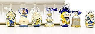 Christmas Ornaments - Set of 7 - Wooden Handmade Ornaments (7, Design N)