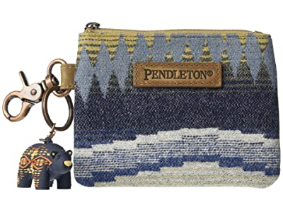 Pendleton ID Pouch with Bear Keychain (Crescent Bay) Credit card Wallet