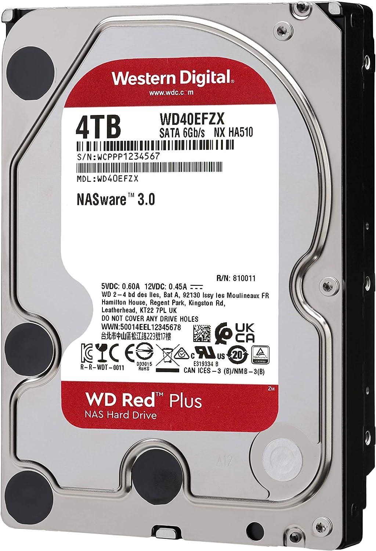 Western Digital WD HDD Red Plus 4TB 256MB 3,5