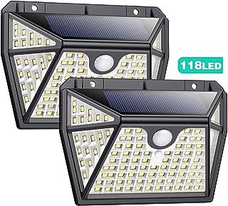 Luz Solar Exterior con Sensor de Movimiento【Iluminación