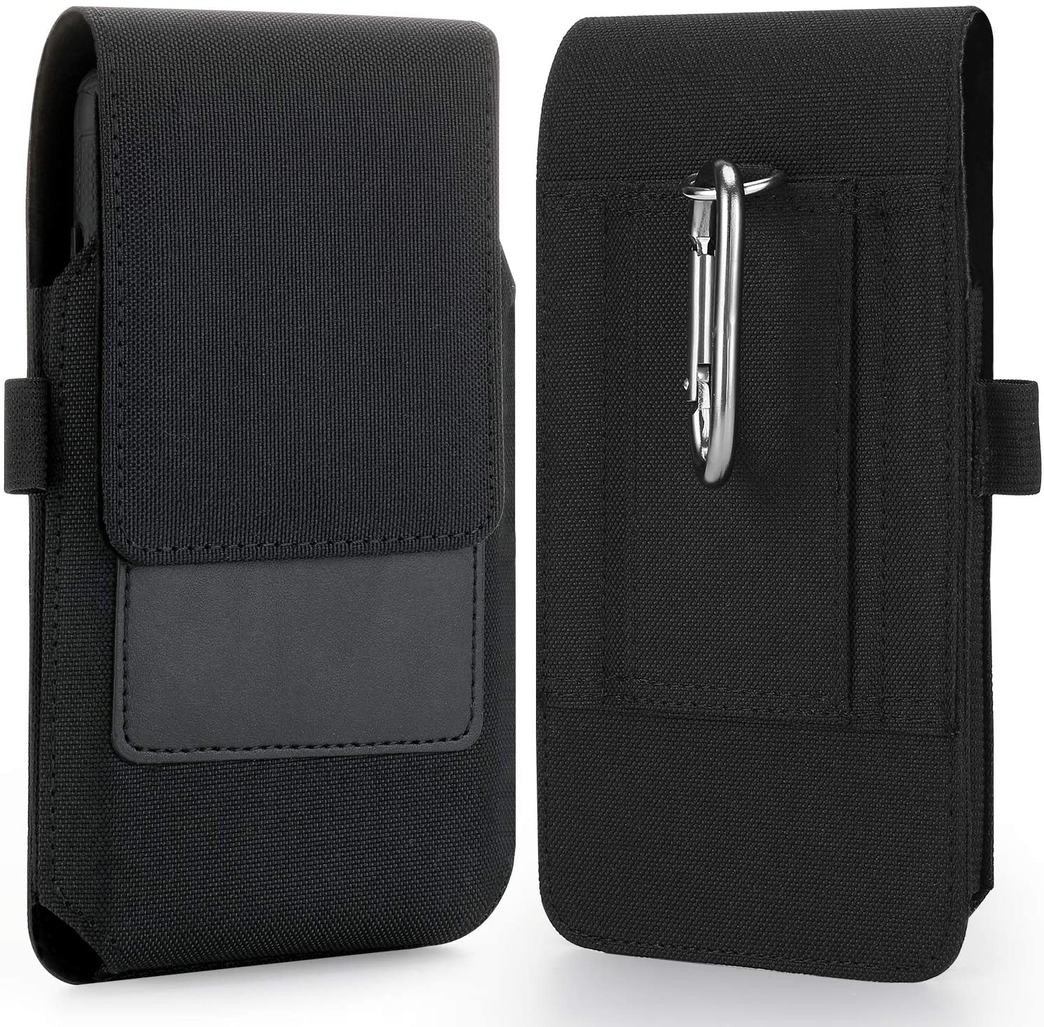 Mopaclle Galaxy A12 Nacho Holster Case, Nylon Belt Clip Case Cell Phone Pouch Belt Holder for Samsung Galaxy M21 2021, M42, M21,A11 A21 A51 A71, J7J7 V J7 Perx, Note 20 10 9 8 S20 FE S10 Plus - Black