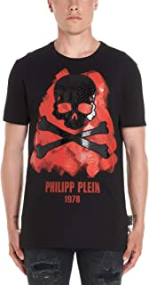 PHILIPP PLEIN Men's F19CMTK3587PJY002N0213 Black Cotton T-Shirt