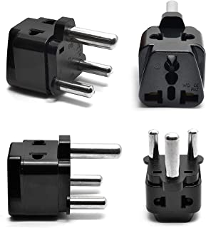 South Africa, Botswana Power Plug Adapter by OREI, 2 in 1 USA Grounded Connection - Universal Socket - Type M - 4 Pack - Perfect for Cell Phones, Laptops, Chargers & More