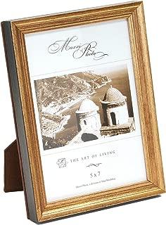 Maxxi Designs Photo Frame with Easel Back, 8 x 10, Antique Gold Leaf Wood Hampton Classics