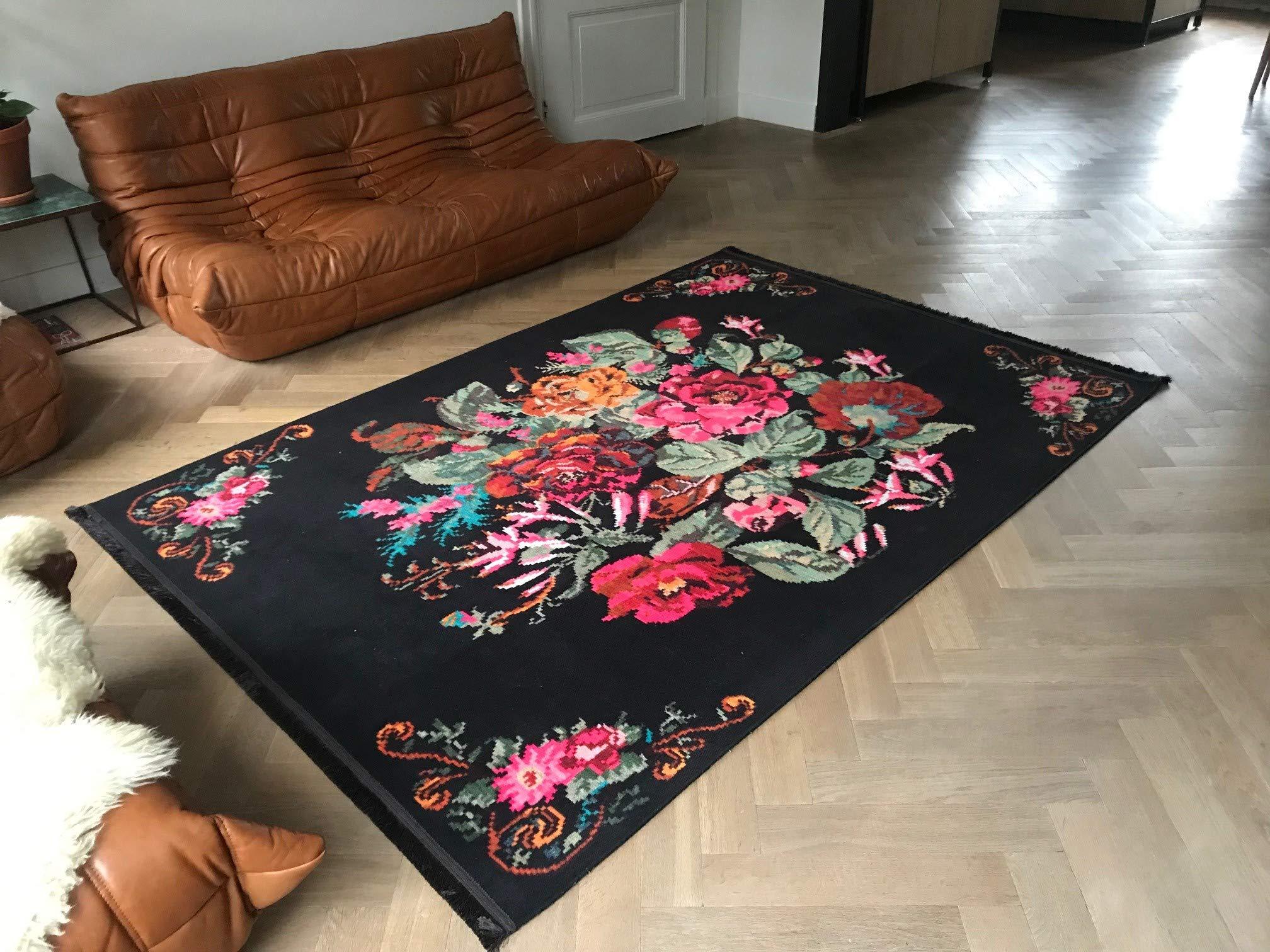 Nueva Alfombra de Estilo Shabby Chic para salón, Dormitorio, jardín de Infancia, Rosa kelim, 120 x 180 cm: Amazon.es: Hogar