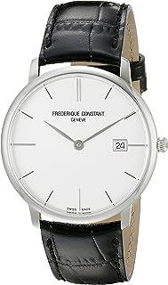 Frederique Constant Men's FC220S5S6 Slim Line Analog Display Swiss Quartz Black Watch