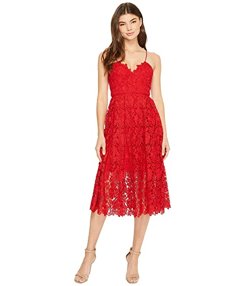 8beed0d6bb1e Donna Morgan Chemical Lace Spaghetti Strap Midi at 6pm