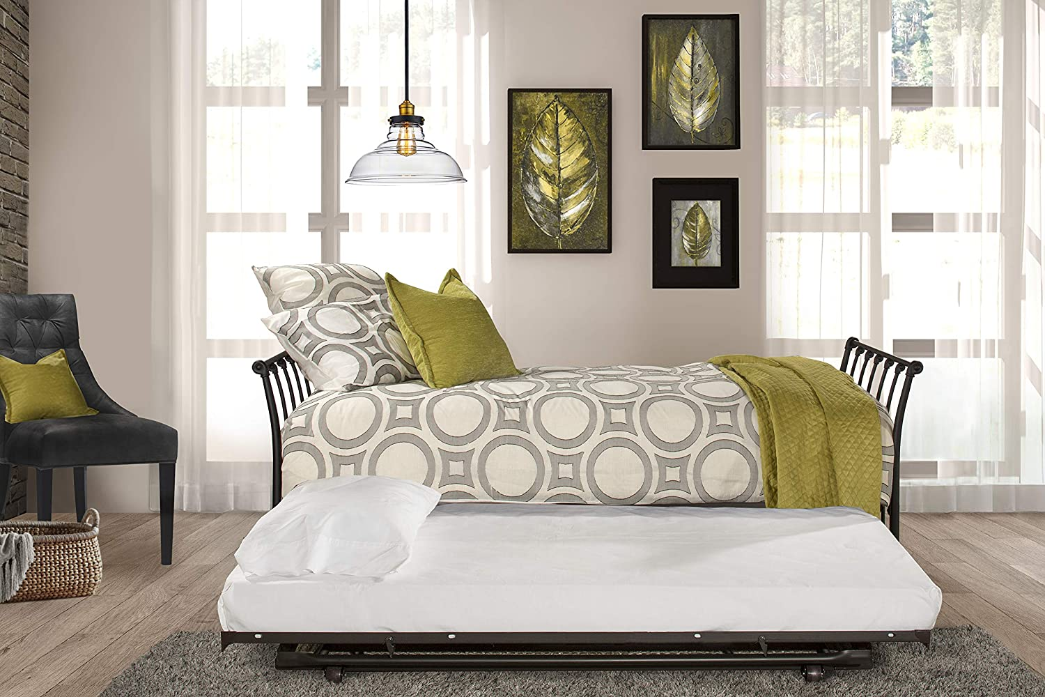 Hillsdale Genuine Furniture Midland Backless Daybed Trundle Twin Bl Max 59% OFF with