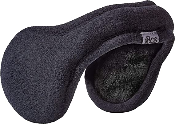 180s Women's Ear Warmer Adjustable Behind The Head Ultra Soft Faux fur Plush Fleece Ear Muff