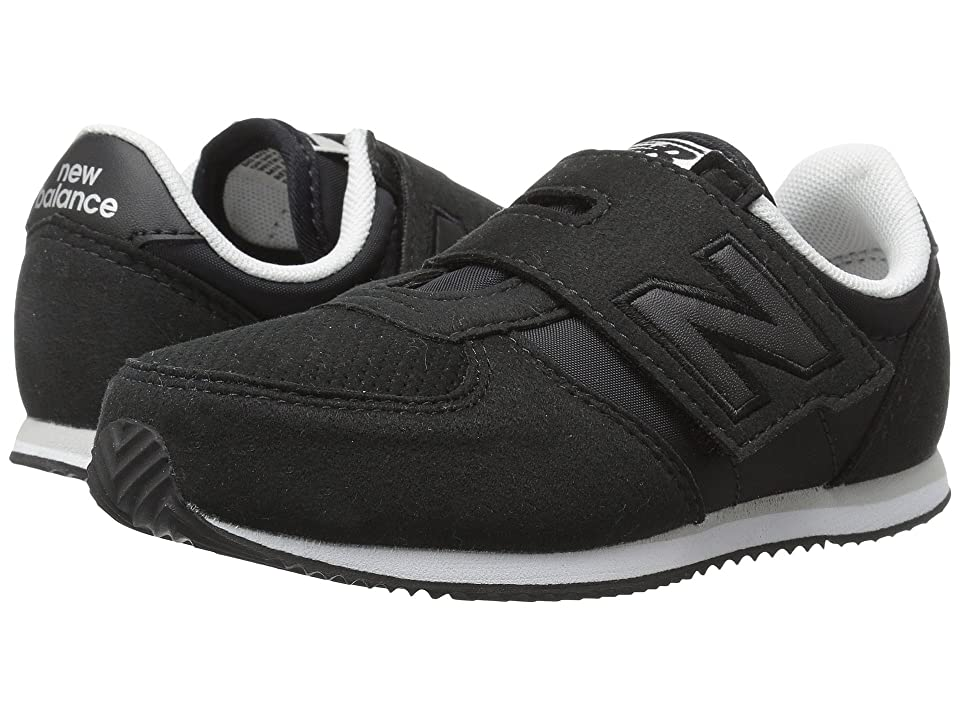 New Balance Kids KV220v1I (Infant/Toddler) (Black/Black) Boys Shoes