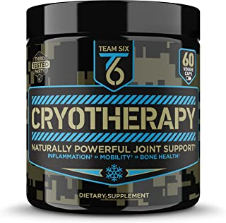 T6 Cryotherapy - Natural Joint Support Supplement | Arthritis Pain Relief, Anti Inflammatory Cartilage Repair & Bone Strength | Type 2 Collagen Pills + Curcumin with Bioperine + Boswellia Extract,30Sv