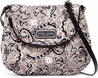 Quilted Paisley Gray Multi Nylon Crossbody Shoulder Bag