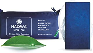 NAQWA SWR-Spring Gravity Powered Portable Personal Water Purification Filter Ideal for Travel Hiking Backpacking Camping Emergency Preparedness Survival